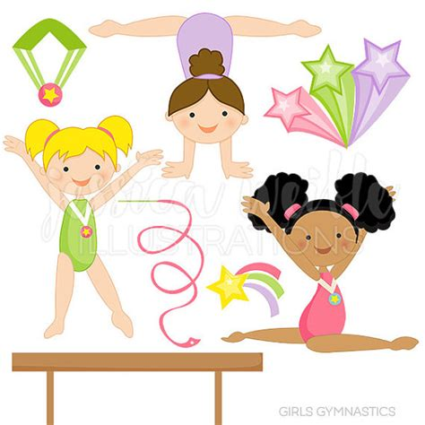 gymnastics clipart gymnastics digital clipart for commercial and