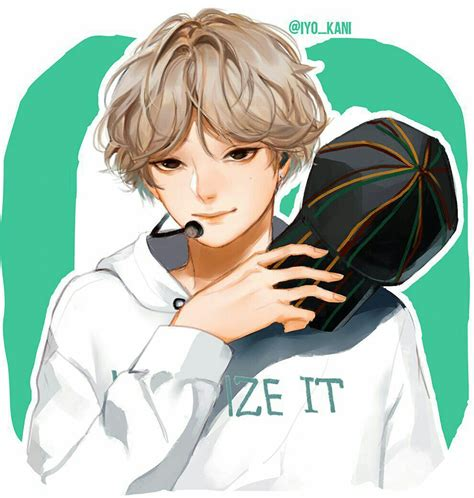 V Anime Fanart by Bts Go Go V Bts Bts Fanart And Kpop
