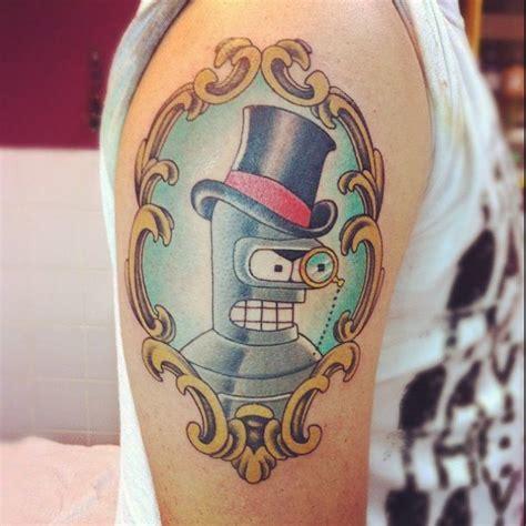 futurama tattoo bender futurama ink
