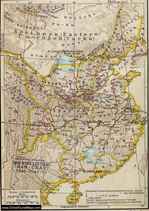 tang dynasty map historical maps of china