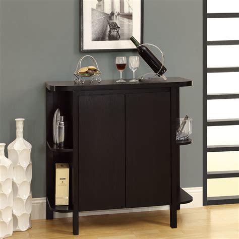 Furniture Wine Bar Cabinet Cappuccino Or White