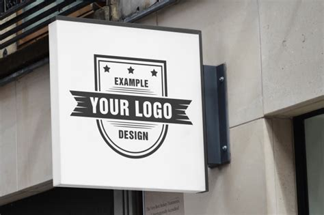 Outdoor Logo Sign Mockup Template Mediamodifier Free Online Mockup Generator Sign Mockup Template