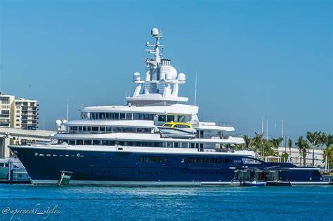 yacht luna 115m explorer yacht luna spotted in miami yacht harbour