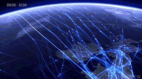 flight pattern gif watch an entire day of air traffic in one astonishing