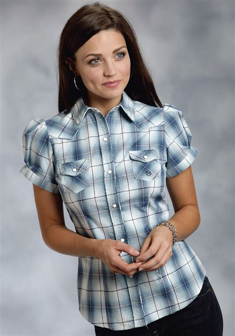 20708 Black Green Fashion Plaid Sale Blouse sleeve plaid shirts womens custom shirt