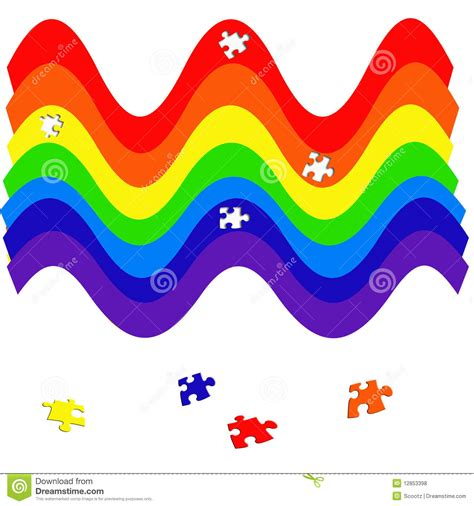 rainbow puzzle rainbow puzzle royalty free stock photos image 12853398
