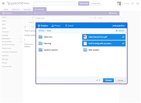 email yahoo directly yahoo mail gets dropbox support to handle large