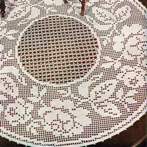 filet crochet patterns for home decor rose doily pattern in filet crochet is 17 19 or 20 inches