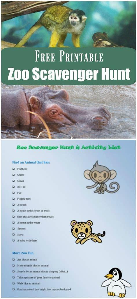 printable animal articles zoo scavenger hunt free printable edventures with kids
