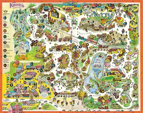 knotts berry farm map knott s berry farm 1996 park map