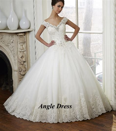 latest design ball gown wedding dresses v neck