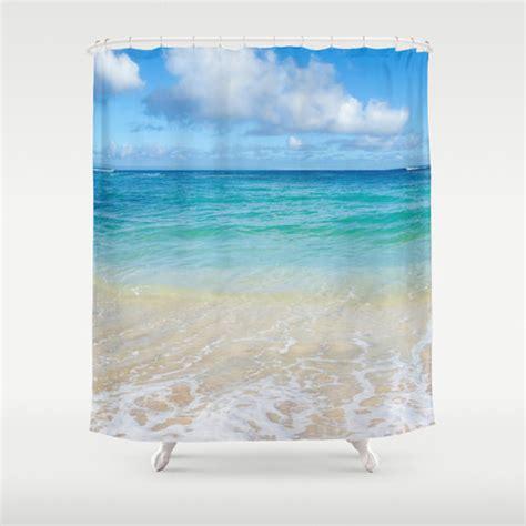 tropical beach shower curtains ocean shower curtain tropical hawaiian beach turquoise