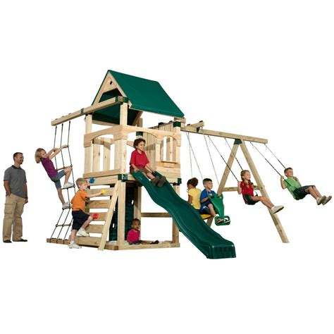 home depot swing n slide swing n slide playsets matterhorn play set just add 4 in