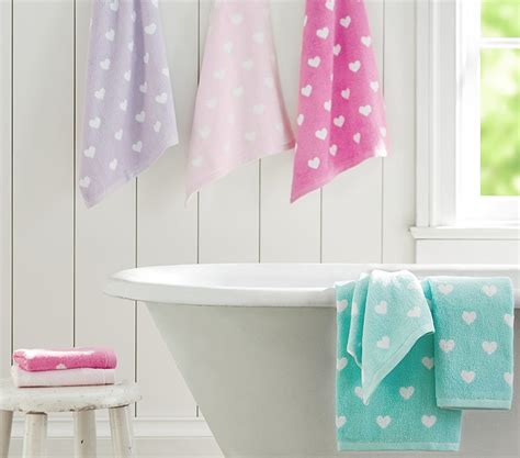 pottery barn kids bathroom ideas bathroom heart bath towel collection pottery barn kids