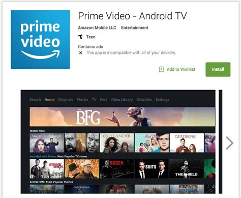 prime android prime comes to android tv but you can t it yet