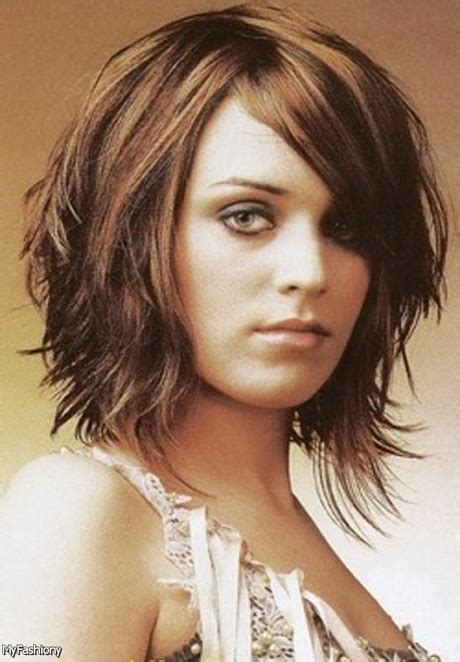 hairstyles for thin hair round face 2015 medium haircuts with bangs 2016
