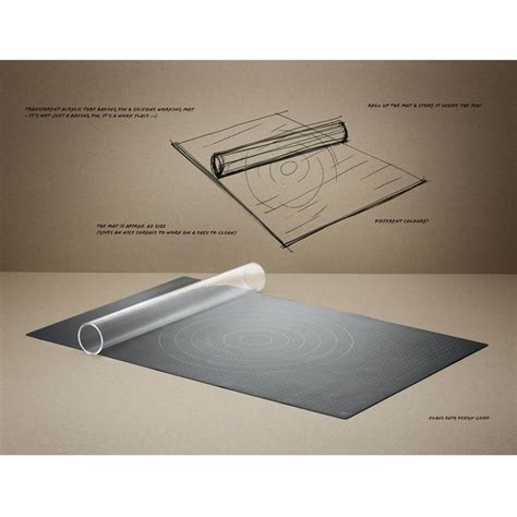 rig tig rolling pin with baking mat by stelton lapadd