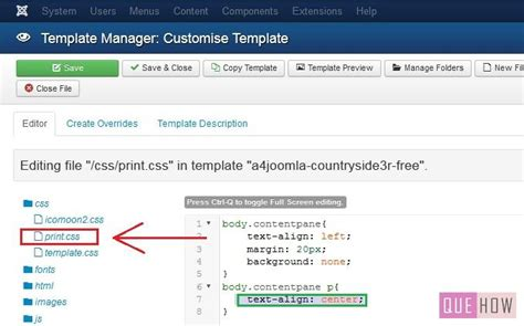 how to edit template in how to edit template css in joomla 3 x 6 steps with