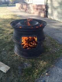 Truck Wheel As Pit Tire Grill Fireplace I Would Like To Invite You To