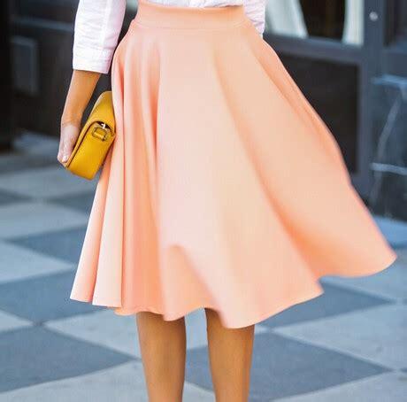 Rok Midi Skirt Flare A Line Bawahan Celana Kulot Jogger 2015 summer autumn skirts new fashion solid high waist slim pleated a line bust