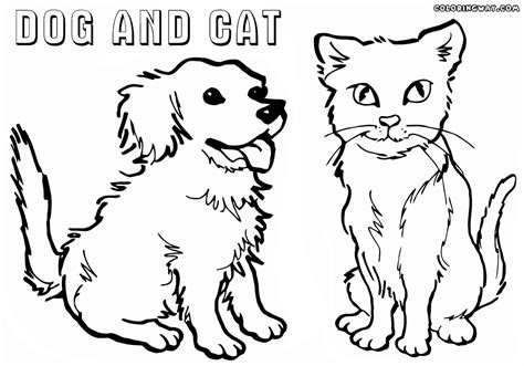 printable coloring pages of cats and dogs colouring pictures cats dogs cute dogs and cats colouring