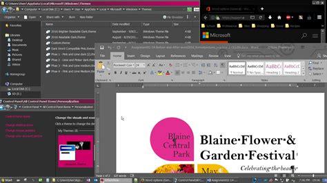 microsoft themes service dark windows 7 theme vs dark windows 10 theme 10 needs