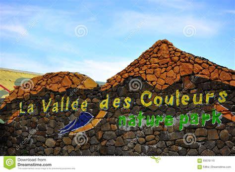 la valle des poupes la vallee des couleurs entrance mauritius editorial image image of leisure nature 93576110