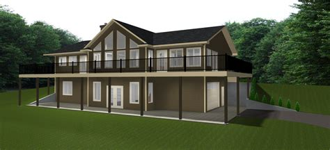 House Plans Bungalow With Walkout Basement Walkout Basements Plans By Edesignsplansca 3 Bungalow House Plans With Walkout Basement