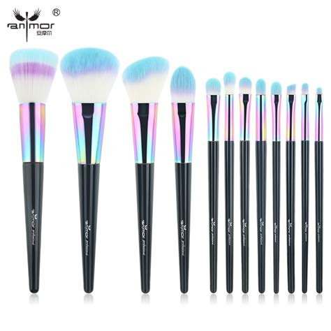 1 Pcs Kuas Eyeshadow Brush Eyeshadow Applicator anmor rainbow makeup brushes 12 pcs synthetic foundation