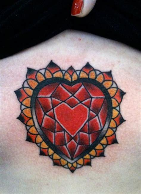 rose shaped heart tattoo the world tattoome shaped