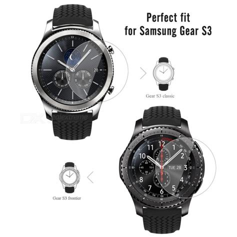 Tempered Glass For Samsung Gear S3 Sikai Premium Tg 1 miimall premium hd clear 9h hardness tempered glass screen