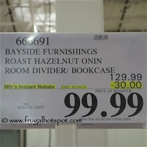 onin room divider with 8 storage baskets costco sale bayside furnishings o nin roast hazelnut room