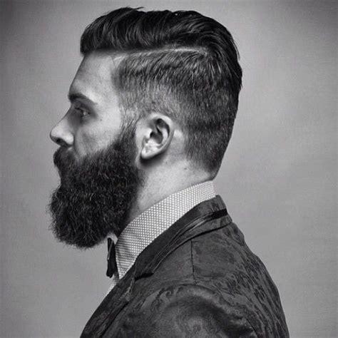 undercut with beard levi stocke full thick dark beard and mustache undercut