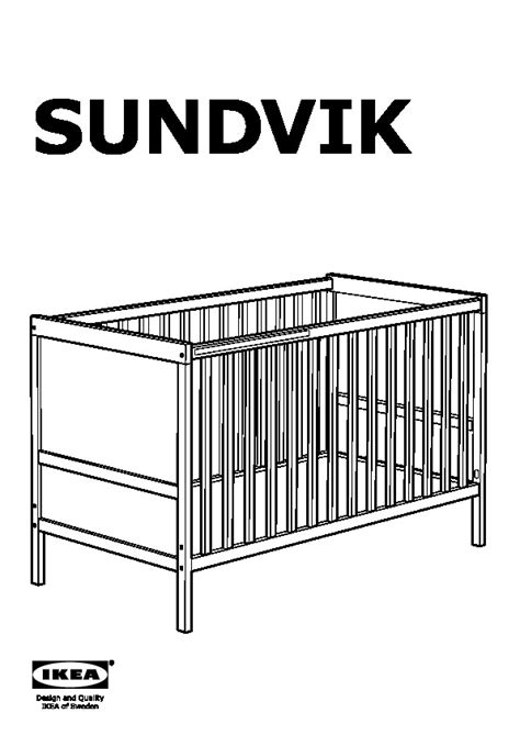 Sundvik Crib by Sundvik Crib Black Brown Canada Ikeapedia