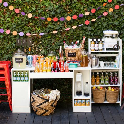 diy martini bar diy outdoor wedding reception beverage station dinner 4 two