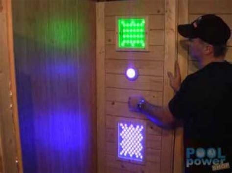 bunte beleuchtung led sauna farblicht gleo bunte saunabeleuchtung mit