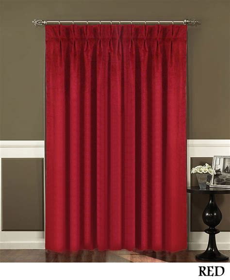 red pleated curtains red triple pleated curtains