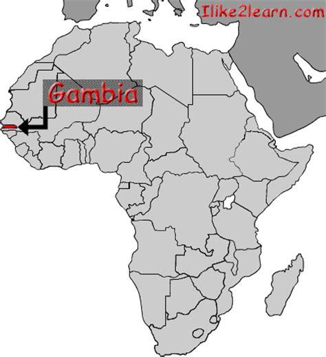 gambia world map gambia