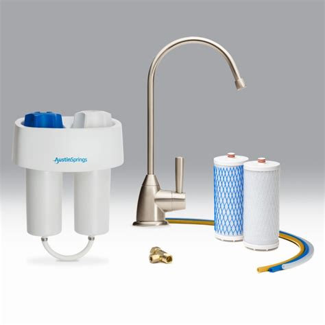 Kitchen Faucet Water Purifier Under Counter Water Filter With Brushed Nickel Faucet