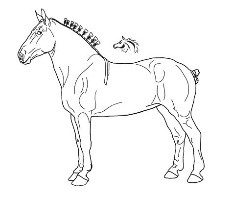 draft horse lineart by xkissofcreation on deviantart