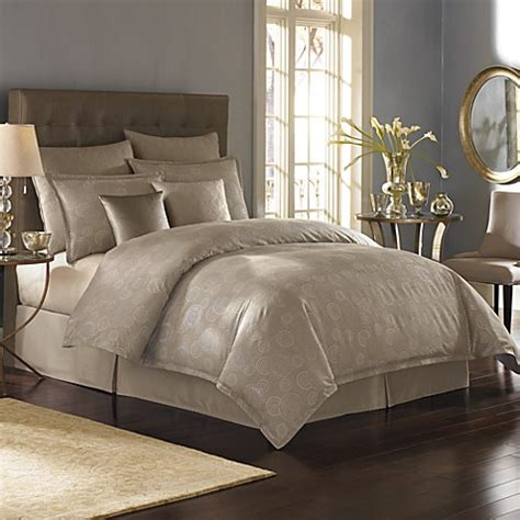 nicole miller coverlet nicole miller 174 metallic circles duvet cover bed bath