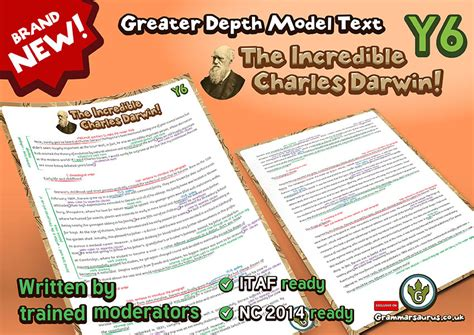 Biography Text Year 6 | new year 6 greater depth model text charles darwin