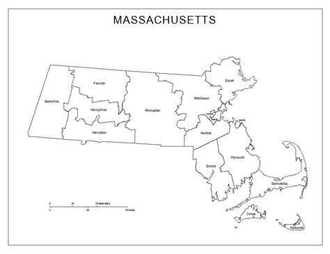 massachusetts county map massachusetts labeled map