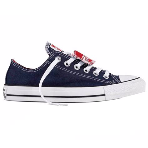 Converse Ct Low Series Blue Navy converse ct all tongue ox navy white womens canvas low top trainers ebay