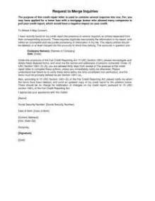 Sample Letter To Remove Items From Credit Report How To Remove Inquiries From Credit Report Sample Letter