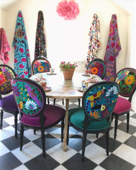 eclectic boho dining chairs bohemian patio