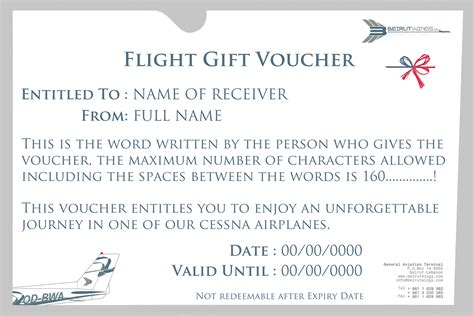 flight ticket template gift airline gift certificate template blue skies gift