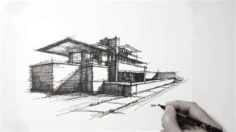 Frank Lloyd Wright Style House Plans by My Lazy Sunday Architectural Sketch Frank Lloyd Wright
