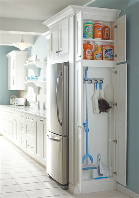 Utility Closet Storage by Utility Organizer Cabinet Traditional Kitchen By