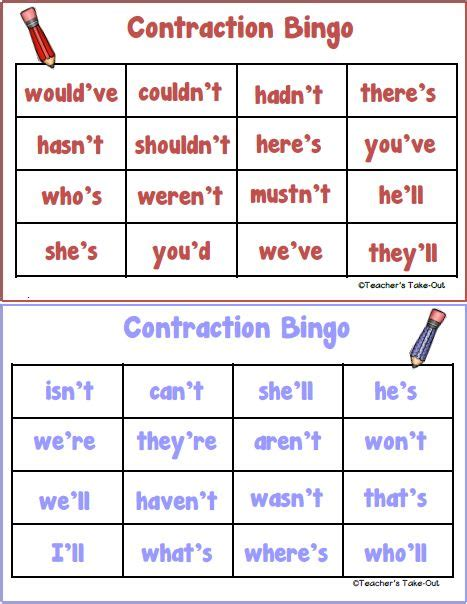 printable contraction games best 25 contraction worksheet ideas on pinterest cut